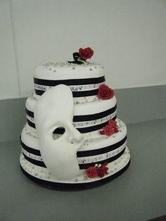 Beautiful Phantom of the Opera wedding cake!