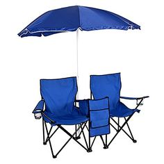 Double Folding Picnic Chair Combo Perfect For Use At The BeachParkCampingOutdoor sporting events * Be sure to check out this awesome product.(This is an Amazon affiliate link and I receive a commission for the sales)