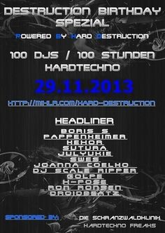mijn hardtechno set Bij Destruction Bday Spezial 29 november 2013  zie mijn soundcloud page  gr massie