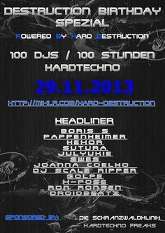 mijn hardtechno set Bij Destruction Bday Spezial 29 november 2013  zie mijn soundcloud page  gr massie