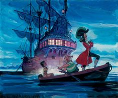 Tiger Lily and Hook. By Jim Salvati. http://www.disneyartonmain.com/tiger-lily-and-hook/