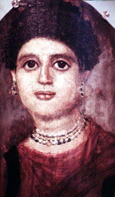 Mummy portrait from Roman Egypt --- vroma.org