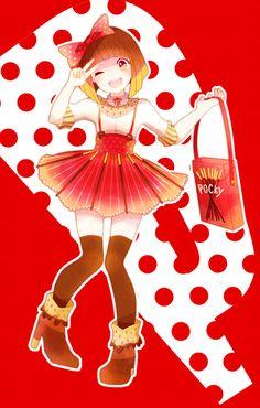 ♥ P O C K Y!! ♥ delicous japanese snack~☆anime art. . .pocky girl. . .kawaii