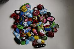 painted stones, malowanie kamienie, edu-mata,