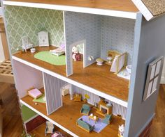 """Materials: BILLY By adding a roof, chimney, wooden details, paint, fences, walls and even windows, the Billy Bookcase becomes a chic beach house, or a fab urban row-house. Use as a bookcase, shelf, or dollhouse… you get to decide! See more of the BILLY bookcase dollhouse. Marius """"Magic Wand"""" Bar Stool Home Theater Media Center [&hellip"""