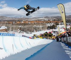 (Trent Nelson  |  The Salt Lake Tribune)  Ben Kilner competes at the FIS Snowboard World Cup on Friday, Feb. 1, 2013 in Park City.
