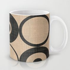 Black Orbs Mug by Chicca Besso - $15.00