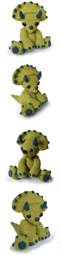 Chester The Triceratops Amigurumi Pattern