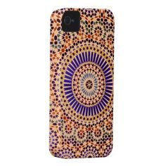 Vintage Abstract Floral Pattern Iphone 4 Cases by #In_case