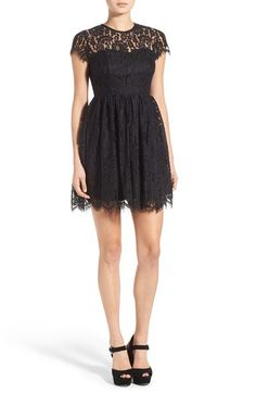 Free shipping and returns on Glamorous Lace Open Back Fit & Flare Dress at Nordstrom.com. Perfectly polish your evening look with an elegant lacefit-and-flare dress featuring a sheer yoke and bold open back.