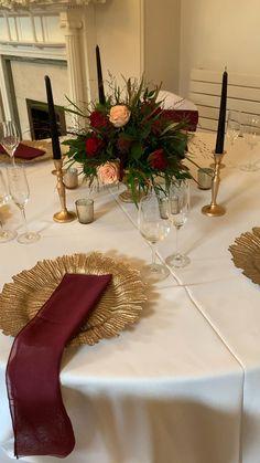 Burgundy Wedding Theme, Autumn Wedding, Wedding Colors, Wedding Styles, Wedding Hall Decorations, Wedding Centerpieces, Long Table Wedding, Happy Birthday Flower, Beautiful Table Settings