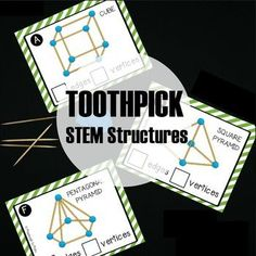 STEM Challenge: Build Toothpick Structures by Playdough to Plato | Teachers Pay Teachers