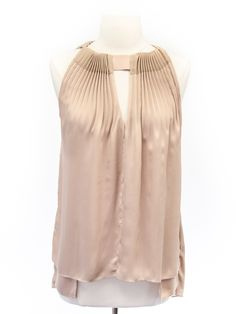 Diane von Furstenberg neutral silk tank with deep v in front and back.*bought it! Does make me look a tad pale tho.