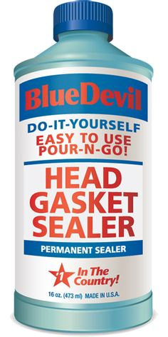 Blue Devil Head Gasket Sealer 16 oz: The Blue Devil Head Gasket Sealant permanently seals cooling system leaks such as blown head gaskets...