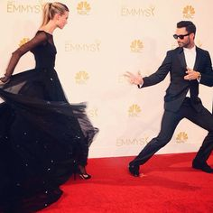 Emmys 2014/ Adam and Behait (bullfighting?)
