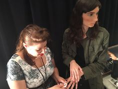 Miss Pop working her magic backstage.   NYFW S/S 2017 Nails: Miss Pop at…
