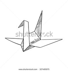 origami fox sketch - Google Search