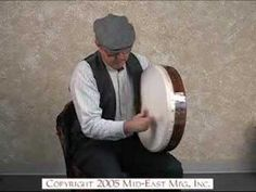 "Background on the Celtic bodhrán drum (pronounced ""bow-ron"") and a short video which shows how it is played."