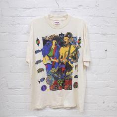 Vintage '93 Bob Dylan & Santana Tour T-Shirt sz XL