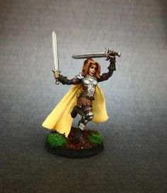 Female Dervish Plate Duel Swords Painted Reaper Miniature DnD Pathfinder | eBay
