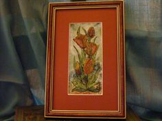 Bouquet of Red Tulips - Enamel picture