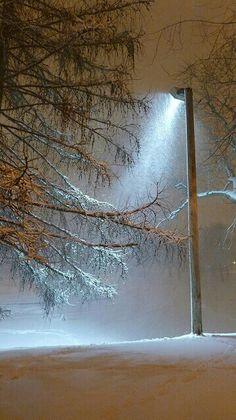 거리에 가로등 한개와 나무에 쌓여있는것과 고독함이 겨울을 표현해 선택하였습니다.