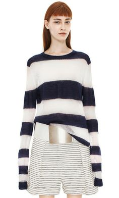 Octave kid m ink blue/antique white stripe