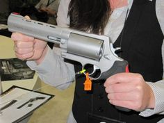 """Brazilian armsmaker Taurus caused a stir when it released """"The Judge"""" -- a revolver that fires shotguns shells in addition to handgun cartridges. The Judge shoots .410 gauge shells as well as .45 Long Colt cartridges. """"The Raging Judge"""", pictured above, goes even further in this approach, firing the much larger 28 gauge shell."""