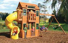 Cedar Valley Lodge Wooden Swing Set $1,249.99