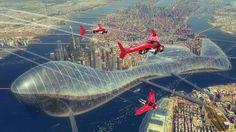 """Manhattan Dome"" by #EvgenyKazantsev.  #sciencefiction #scifi"