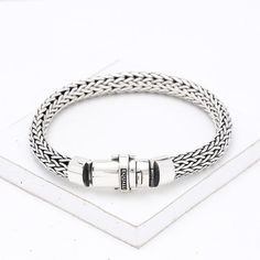 Bass Sterling Silver Bracelet by Equalli.com