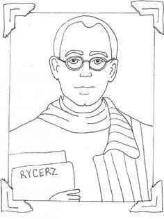 saint maxamillion kolbe coloring pages | Saint Francis Xavier coloring page for Catholic children ...