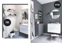 Sådan løser du problemet med vasketøj, der roder! | Boligmagasinet.dk Copenhagen Apartment, Sweet Home, Shabby, Form Design, Smart Storage, Bath And Beyond, Small Living, Small Bathroom, Bathrooms