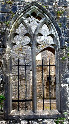 Medieval window, Athenry Dominican Friary, Co. Galway, Ireland