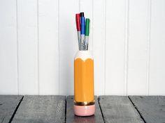 Vintage Pencil Shaped Pencil Holder