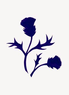 More thistles...   I dug through my stash of Origami paper and found a luscious dark purple, so here's another Thistle paper cut.  I'm real...