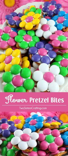 Our Flower Pretzel Bites are beautiful, delicious and super easy to make. This yummy and colorful dessert is the perfect bite-sized blend of sweet and salty. They are a fantastically easy summer dessert, Mother's Day treat, Baby Shower Snack or Easter food. Follow us for more fun dessert Ideas.