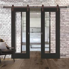 Barn Style Sliding Doors – Page 15 Internal Sliding Doors, Barn Style Sliding Doors, Sliding Door Track, Sliding Door Systems, Black Doors, White Doors, Traditional Interior, Ceiling Height