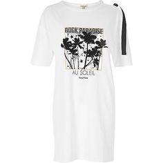 White paradise print jumbo tee - print t-shirts / vests - t shirts / vests - tops - women