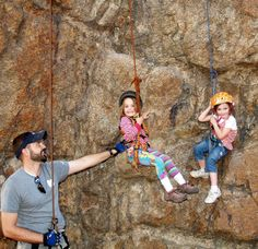 Learning to rock climb.