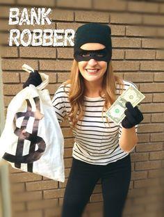 Halloween #2016 bank robber costume