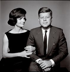 President John F. Kennedy with First Lady Jacqueline Kennedy