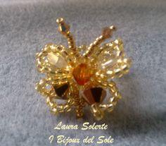 Gold rose, Crystal and Topaz Swarovski. Venduto-Sold. Disponibile su ordinazione - Available on request