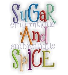 Sugar and Spice Curly Whimsical Font - 5 Sizes! | Alphabets | Machine Embroidery Designs | SWAKembroidery.com