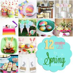 12 Creative Ideas For Easter and Spring at TidyMom Spring Crafts, Holiday Crafts, Holiday Fun, Happy Easter, Easter Bunny, Coloring Easter Eggs, Egg Coloring, Diy Ostern, Easter Celebration