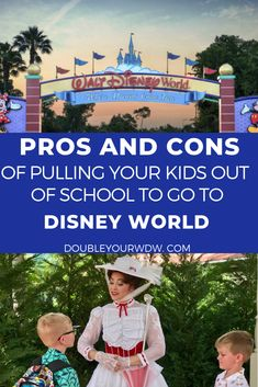 Disney World tips and tricks for deciding if you should pull your kids from school to go to Disney World. Disney World planning help for your family. Planning Disney with kids and toddlers and babies Disney World Parks, Walt Disney World Vacations, Disney Travel, Disney Vacation Planning, Disney World Planning, Trip Planning, Disney World Tips And Tricks, Disney Tips, Family Planning