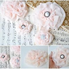 Chiffon ruffle flower is the perfect homemade gift for your hair or accessory