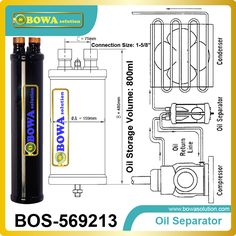 Oil Separator integrates well the different techniques of oil separation in the design of its products