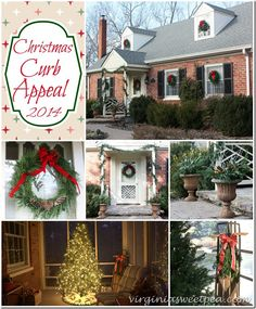 It's December and time to get our homes ready for the season. Today I'm sharing my outdoor Christmas Curb Appeal for You are invited to take a tour! Southern Christmas, Little Christmas, All Things Christmas, Christmas Holidays, Christmas Crafts, Christmas Tea, Xmas, Holiday Wreaths, Holiday Gifts