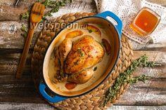 Цыплёнок по-нормандски с сидром и яблоками